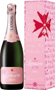 Champagne Lanson Rose Label Brut