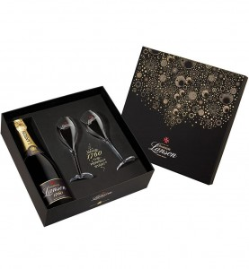 "Champagne Lanson Zestaw ""New York"" Black Label"